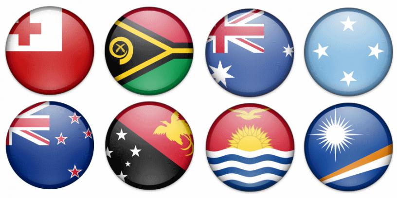 flagi państw australii i oceanii