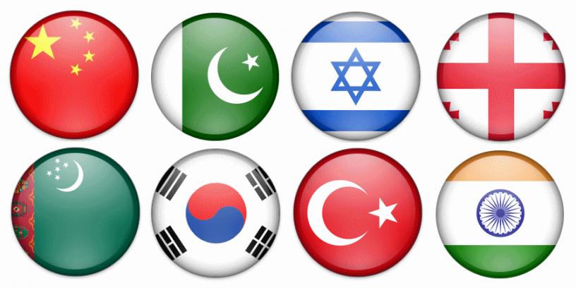 flagi państw azjatyckich