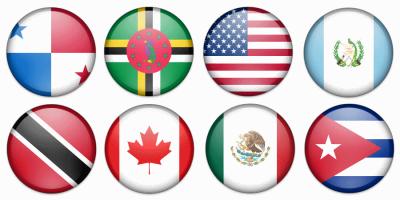 flagi państw ameryki północnej
