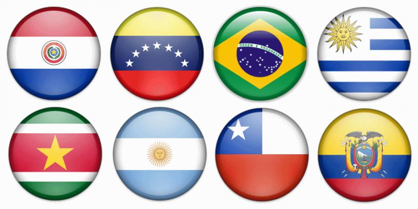 flagi państw ameryki południowej